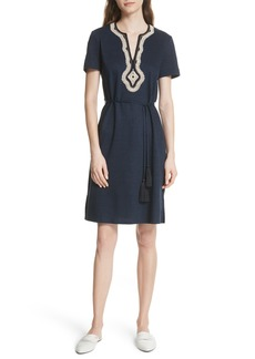 Tory Burch Embroidered Knit Dress
