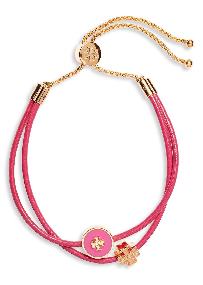 Tory Burch Enamel Logo Slider Bracelet