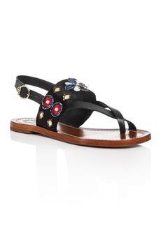 Tory Burch Estella Embellished Slingback Sandals