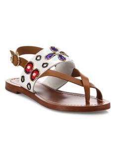 Tory Burch Estella Leather Slingback Sandals
