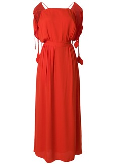 Tory Burch Evalene tie-shoulder dress - Red