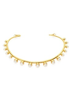 Tory Burch Faux-Pearl Bud Collar Necklace