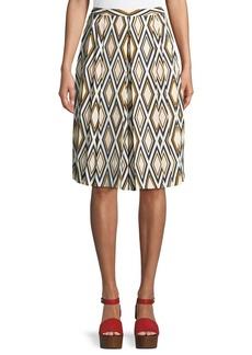 Tory Burch Faye Diamond-Print Culotte Trousers