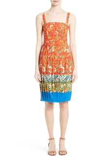 Tory Burch Fernanda Border Print Dress