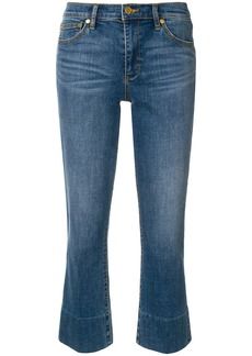 Tory Burch flared cropped jeans - Blue
