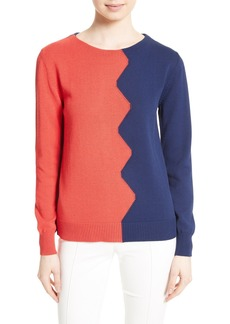 Tory Burch Fleet Colorblock Pullover