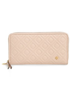 Tory Burch Fleming Leather Zip Around Wallet