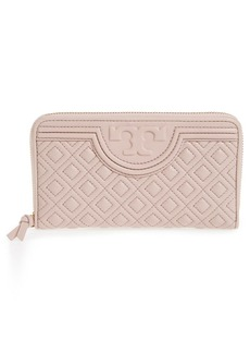 Tory Burch 'Fleming' Quilted Lambskin Leather Continental Wallet