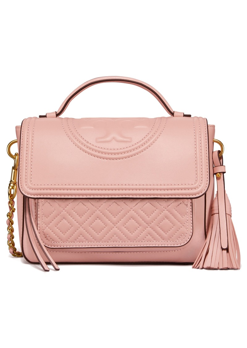 38d5338d7103 Tory Burch Tory Burch Fleming Quilted Leather Top Handle Satchel ...