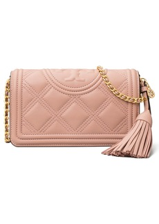 Tory Burch Fleming Quilted Leather Wallet on a Chain