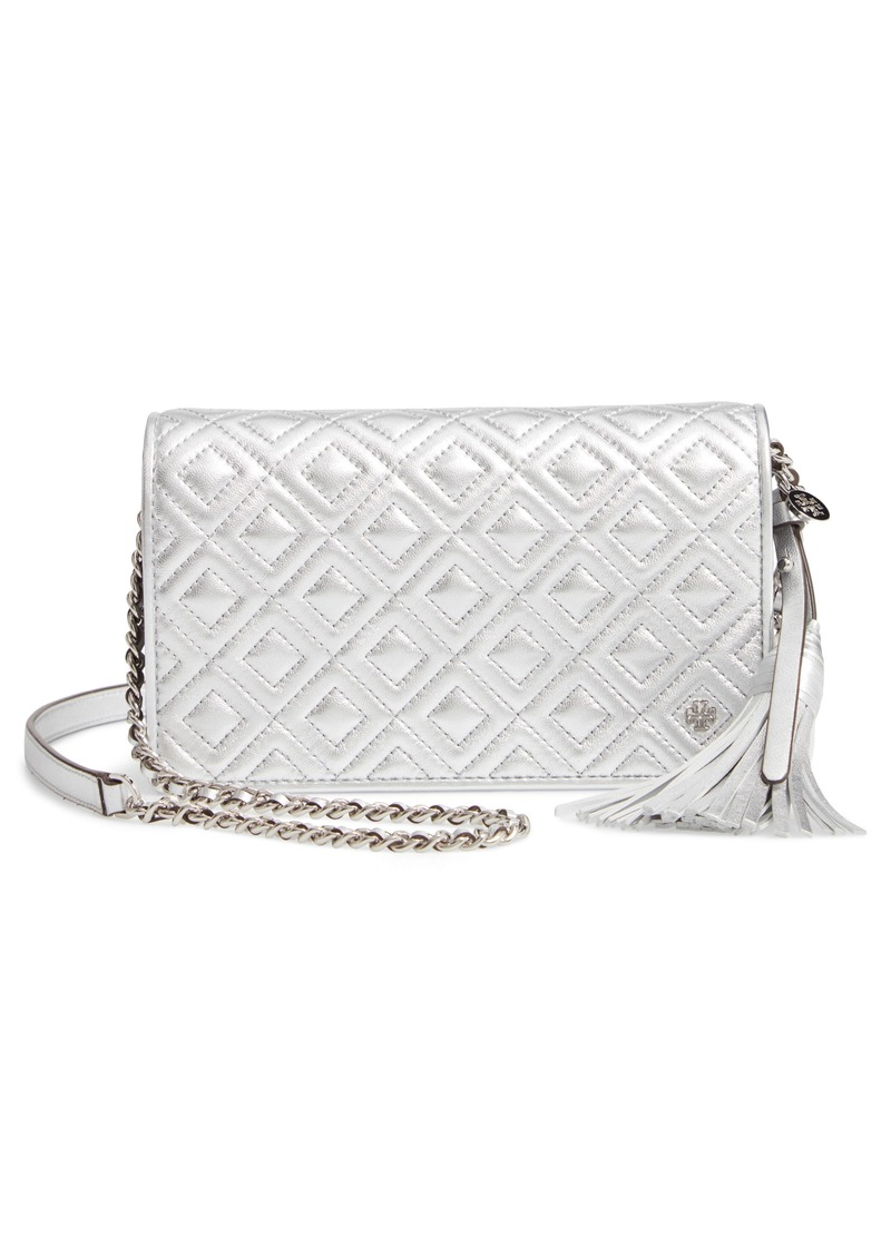 cf0a185ca7b Tory Burch Tory Burch Fleming Quilted Metallic Leather Continental ...