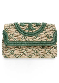 Tory Burch Small Fleming Straw Clutch