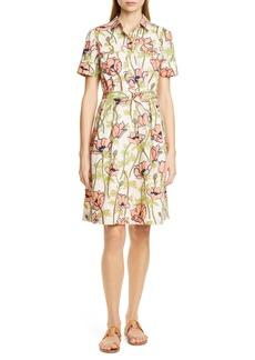 Tory Burch Floral Poplin Shirtdress