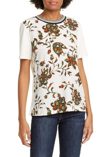 Tory Burch Floral Print Cotton Tee