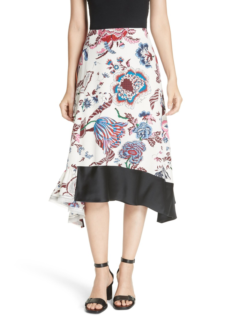 f13fa1c6a5 Tory Burch Tory Burch Floral Silk Midi Skirt | Skirts