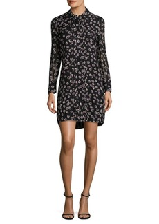 Tory Burch Floral Silk Shirt Dress
