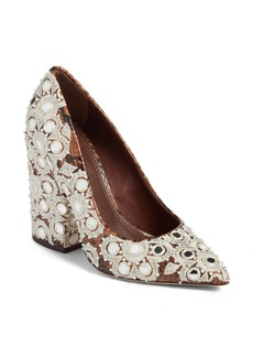 Tory Burch Francesca Pointy Toe Pump (Women)