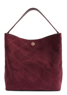 Tory Burch Frida Stitched Suede Hobo (Nordstrom Exclusive)