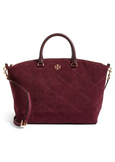 Tory Burch Frida Stitched Suede Satchel (Nordstrom Exclusive)
