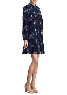 Tory Burch Gabrielle Floral-Print Silk Dress