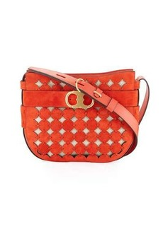 Tory Burch Gemini Link Cutout Small Shoulder Bag