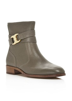 Tory Burch Gemini Link Leather Ankle Boots