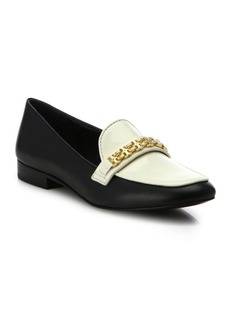 Tory Burch Gemini Link Leather Loafers