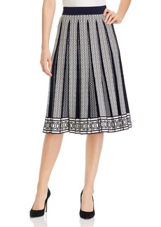 Tory Burch Gemini Link Pleated Midi Skirt