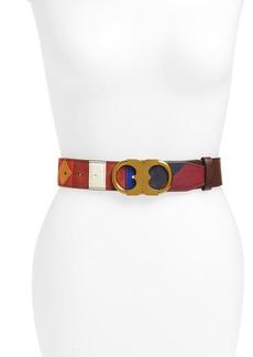 Tory Burch Gemini Patchwork Leather Belt