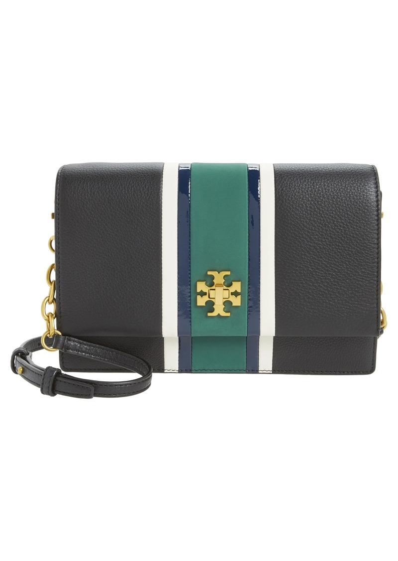 a96e5798404 Tory Burch Tory Burch Georgia Stripe Leather Shoulder Bag