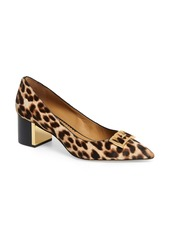 Tory Burch Gigi Block Heel Genuine Calf Hair Pump (Women)
