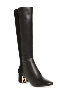 Tory Burch Gigi Logo Heel Tall Boot (Women)
