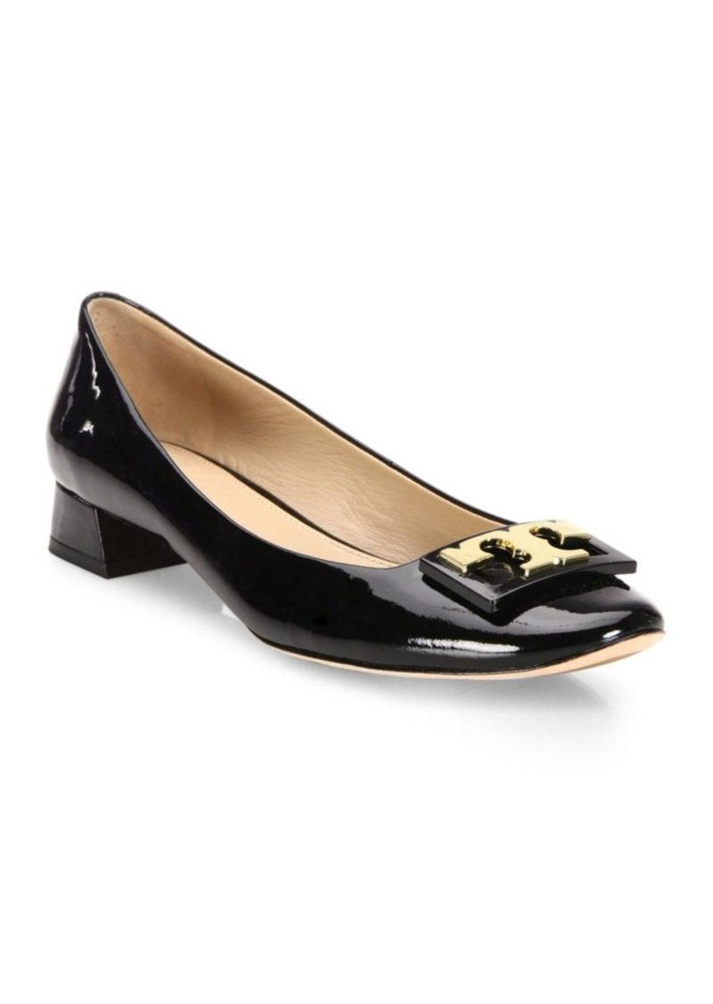 74cae329107 Tory Burch Tory Burch Gigi Patent Leather Block Heel Pumps
