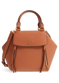 Tory Burch Half Moon Leather Satchel