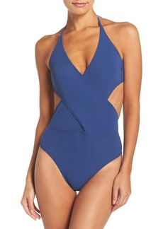 Tory Burch Halter One-Piece Swimsuit