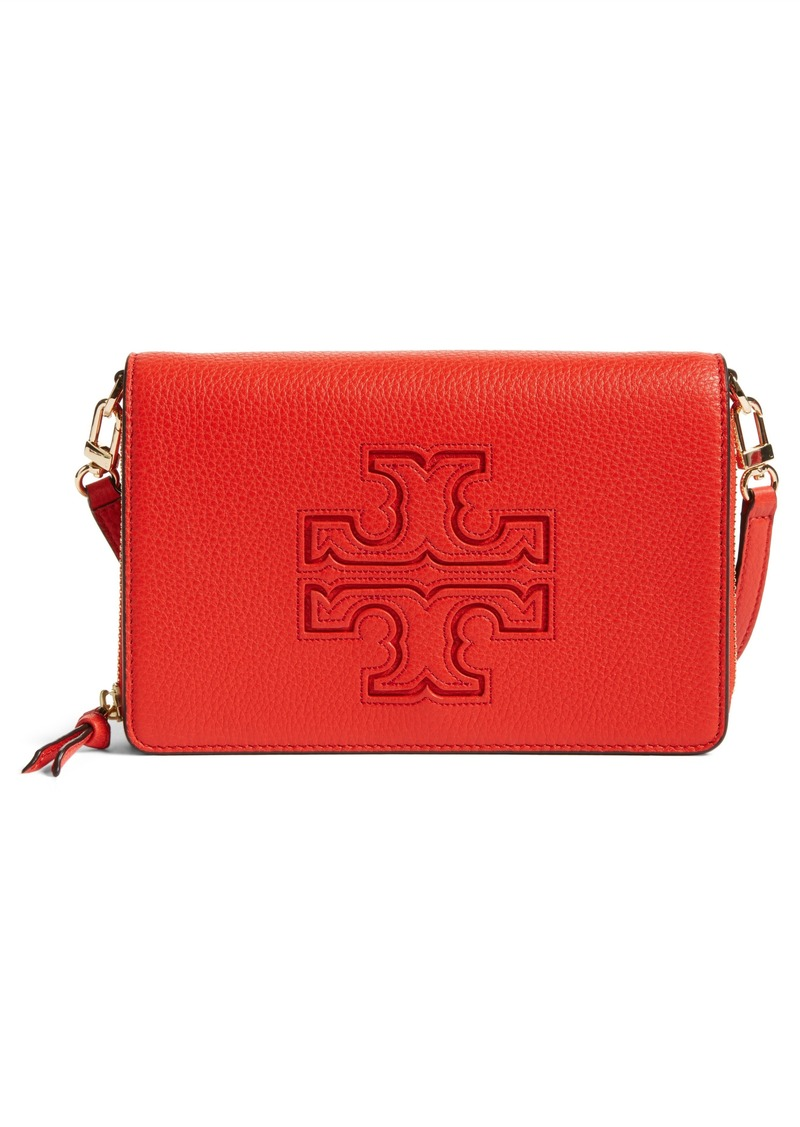 42ab3fe20fd Tory Burch Tory Burch  Harper  Pebbled Leather Wallet Crossbody Bag ...