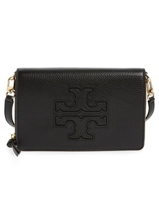 Tory Burch 'Harper' Pebbled Leather Wallet Crossbody Bag