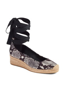 Tory Burch Heather Ankle Wrap Espadrille Wedge (Women)
