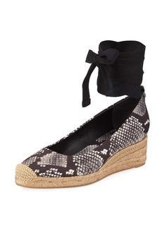Tory Burch Heather Ankle-Wrap Wedge Espadrille