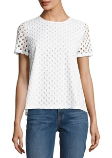Tory Burch Hermosa Cotton Eyelet T-Shirt
