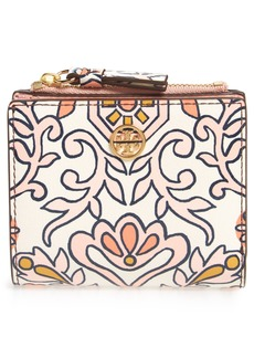 Tory Burch Hicks Garden Print Mini Bifold Wallet