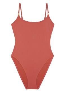 Tory Burch High Leg One-Piece Swimsuit