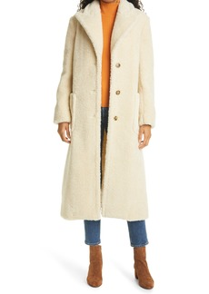 Tory Burch High Pile Fleece Overcoat