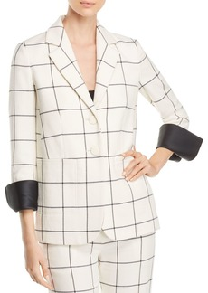 Tory Burch Holt Windowpane Blazer