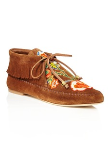 Tory Burch Huntington Bead Embroidered Fringe Booties