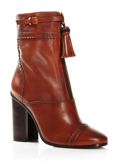 Tory Burch Huxley Tasseled Horseshoe Heel Booties