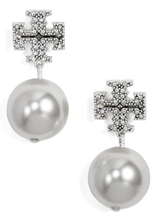 Tory Burch Imitation Pearl Drop Earrings