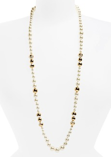 Tory Burch Imitation Pearl Strand Necklace