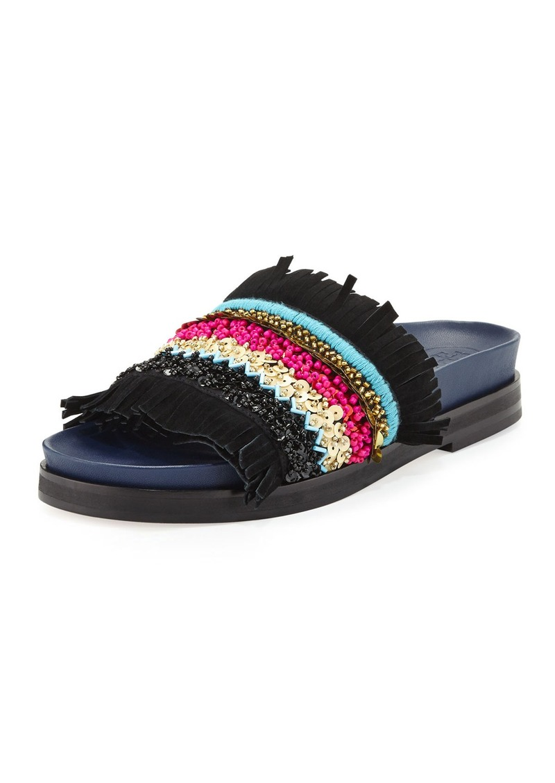 Beaded Slip On Shoes