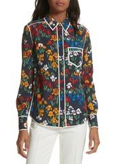 Tory Burch Jackie Silk Shirt